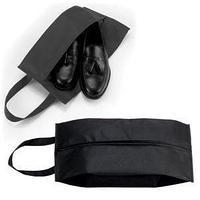 """Футляр для обуви на молнии """"HAPPY TRAVEL"""", черный , нетканка , 20*42*15 см, шелкография"""