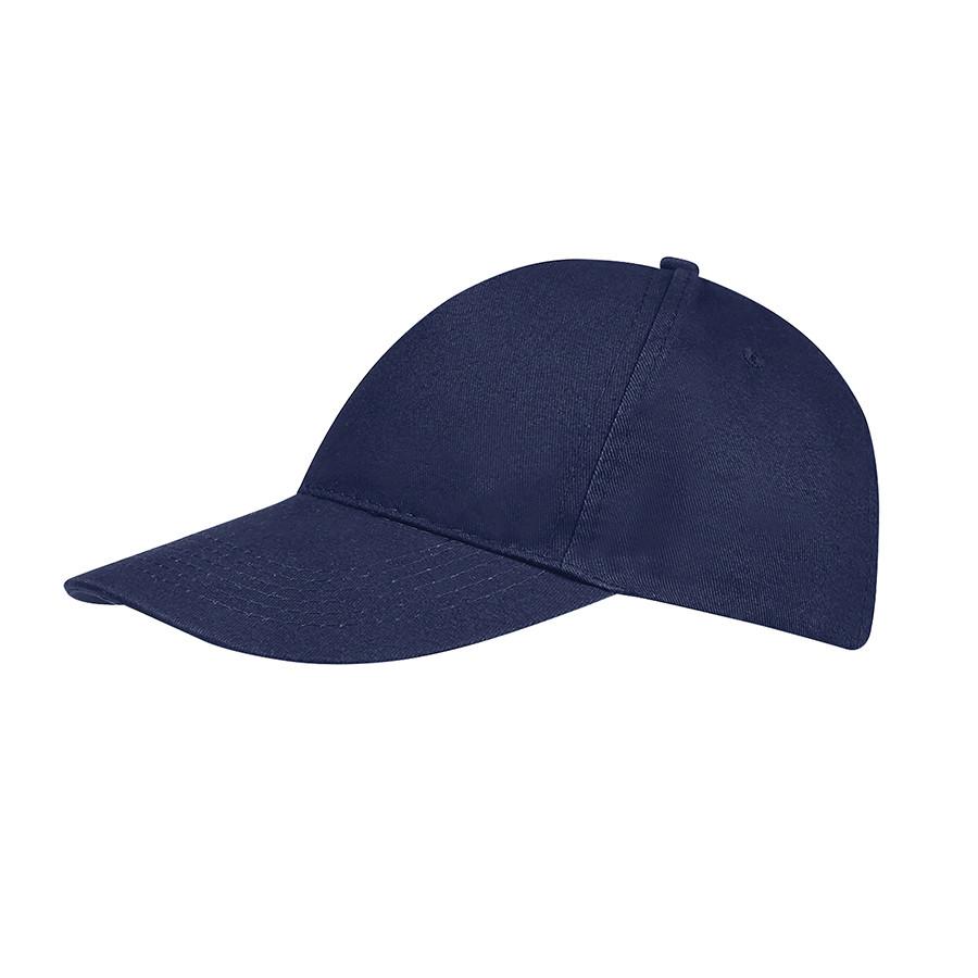 """Бейсболка """"SUNNY"""", 5 клиньев, застежка на липучке, темно-синий, 100% хлопок, плотность 180 г/м2"""