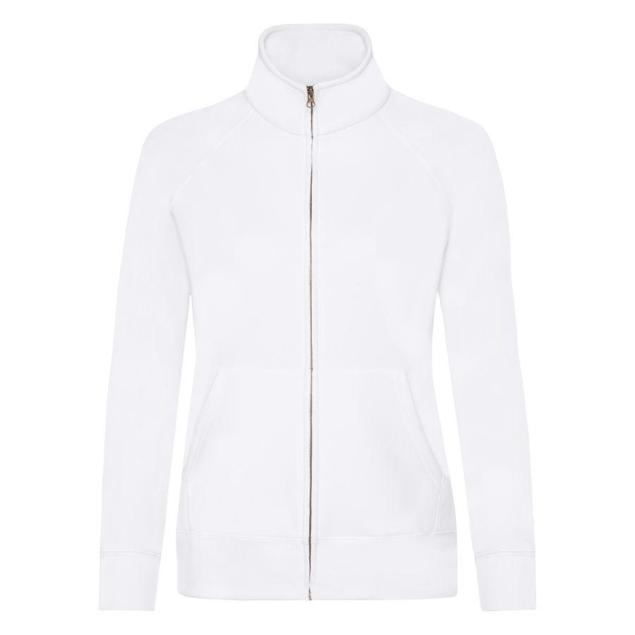 """Толстовка """"Lady-Fit Sweat Jacket"""", белый_L, 75% х/б, 25% п/э, 280 г/м2"""