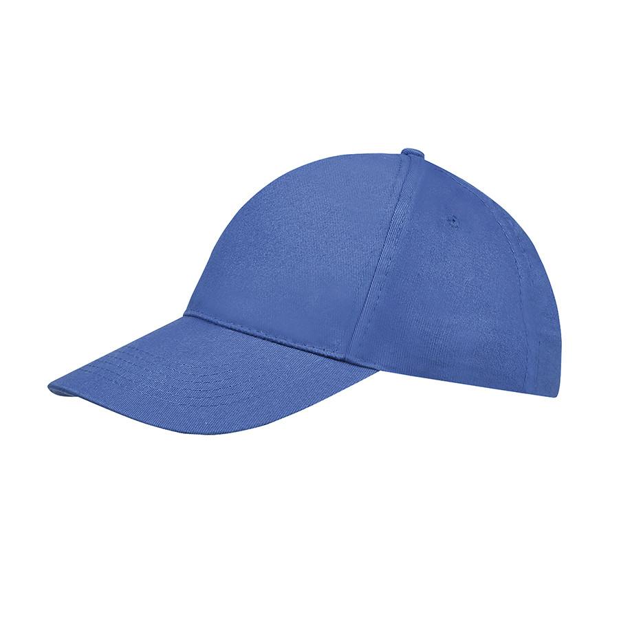 """Бейсболка """"SUNNY"""", 5 клиньев, застежка на липучке, ярко-синий, 100% хлопок, плотность 180 г/м2"""