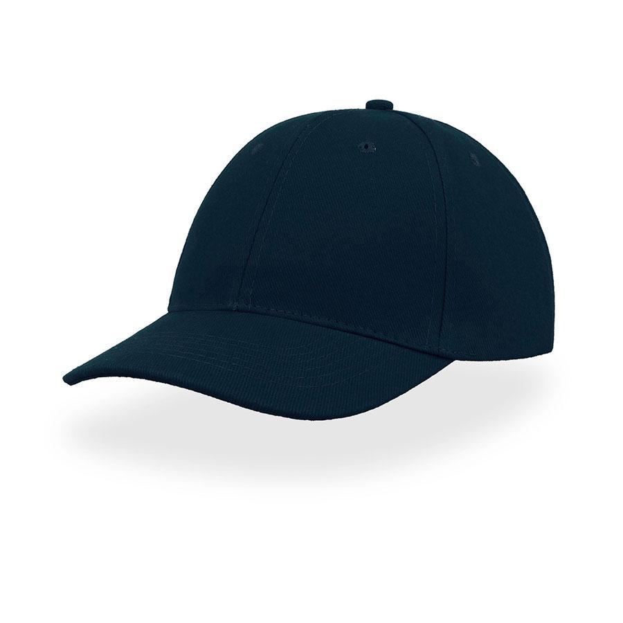 "Бейсболка ""LIBERTY SIX"", 6 клиньев, застежка на липучке, темно-синий, 100% хлопок;плотность 250 г/м2"