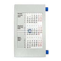 Календарь настольный на 2 года; серый с синим; 18х11 см; пластик, фото 1