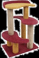 Комплекс ИНЬ-ЯНЬ (2 когтеточки, 3 площадки) 60*40*80 PerseiLine КК-15