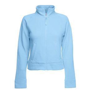 """Толстовка """"Lady-Fit Sweat Jacket"""", небесно-голубой_M, 75% х/б, 25% п/э, 280 г/м2"""