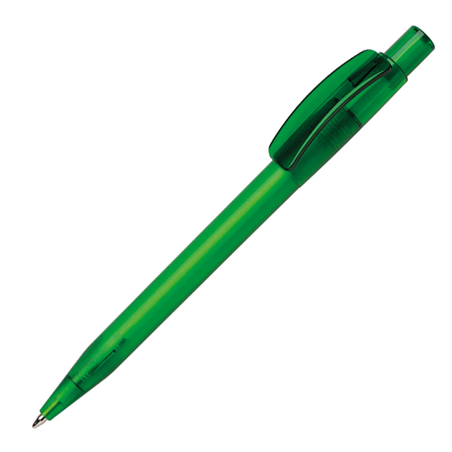 Ручка шариковая PIXEL FROST, зеленый, пластик