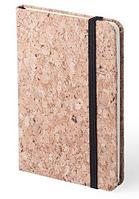 Блокнот CLIMER A6, твердый переплет, пробковая ткань