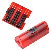 Набор отверток; красный; 9,5х4х4 см; пластик, металл