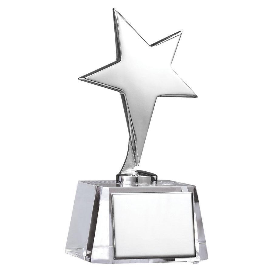 """Стела """"Звезда"""" в подарочной упаковке; 7,7х7,6х15,6 см; стекло, металл; лазерная гравировка"""