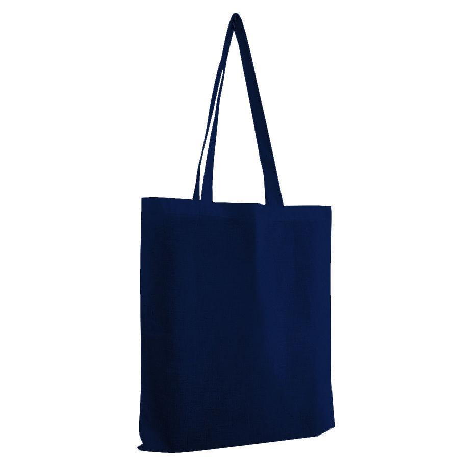 """Сумка для покупок из хлопка """"Eco"""";  темно-синий; 38х42 см; 100% хлопок; шелкография"""