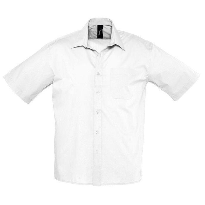 "Рубашка""Bristol"", белый_S, 65% полиэстер, 35% хлопок, 105г/м2"