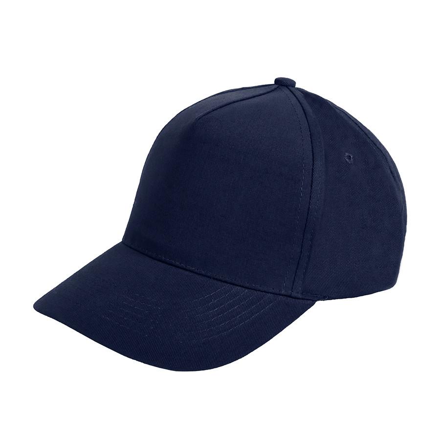 """Бейсболка """"Optima S"""", 5 клиньев, металлическая застежка; темно-синий; 100% хлопок; плотность 175 г/м"""