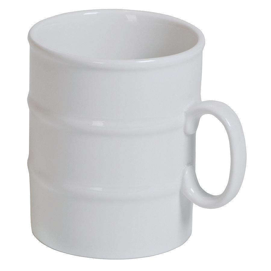 """Кружка """"Бочка"""" в подарочной упаковке, белый, 12,5х13х8см, 280 мл, фарфор"""
