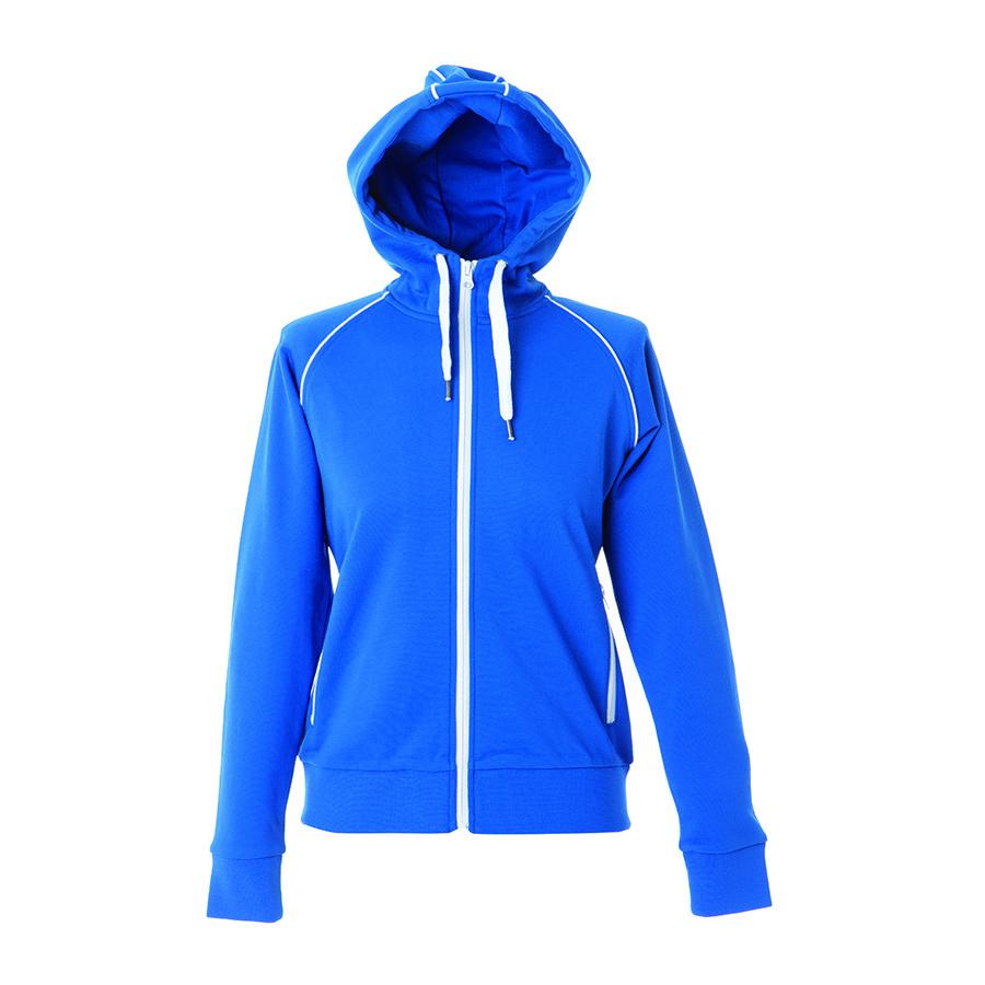 "Толстовка женская ""SIVIGLIA"" ,ярко-синий,L, 80% полиэстер, 20% хлопок, 320 г/м2"