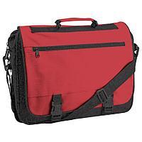 """Конференц-сумка """"Expo""""; черный с красным; 39х29х9 см; полиэстер"""