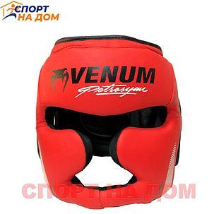 Бокс Шлем Venum Франция (кожзам-красный) М, фото 2
