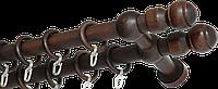 """Карниз деревянный двухрядный ДК """"Идея"""" венге, 280см"""