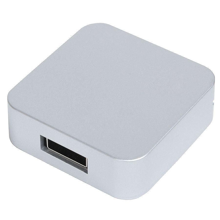 "USB flash-карта ""Akor"" (8Гб),серебристая, 4х4х1,3см,пластик"