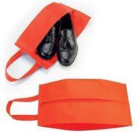"""Футляр для обуви на молнии """"HAPPY TRAVEL"""", красный, нетканка , 20*42*15 см, шелкография"""