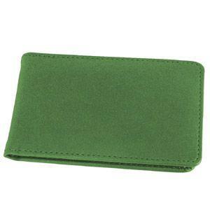 Визитница (34 визитки); зеленый; 12х8 см; искуccтвенная кожа