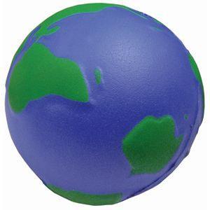 """Антистресс """"Земной шар""""; D=6,5 см; вспененный каучук"""