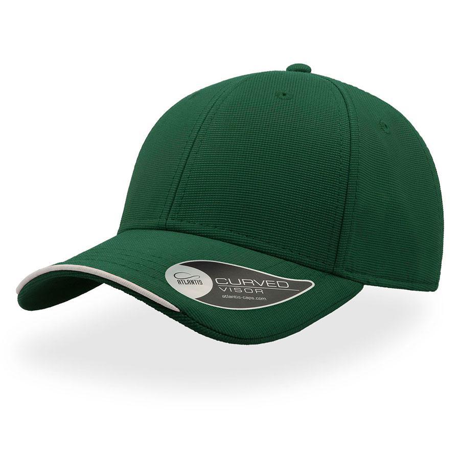 """Бейсболка """"ESTORIL"""", 6 клиньев, застежка на липучке, зеленый, 100% полиэстер, 250 г/м2"""