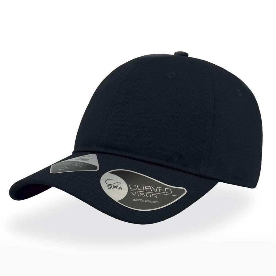 "Бейсболка ""GREEN CAP"", 6 клиньев, метал. застежка, темно-синий, 100% органич. хлопок, 265 г/м2"