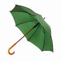 Зонт-трость механический Santy, деревянная ручка, нейлон, D=105, зелёный, фото 1