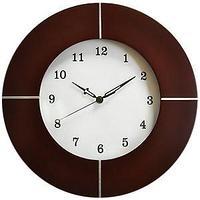 Часы настенные; D=31 см; H=2,7 см; дерево, металл
