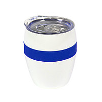Термокружка LINE, белый/синий, сталь, 300 мл