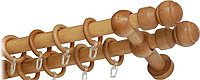 """Карниз деревянный двухрядный ДК """"Идея"""" дуб 140 см"""