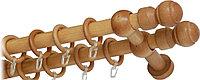 """Карниз деревянный двухрядный ДК """"Идея"""" дуб, 160см"""