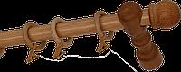 Карниз деревянный однорядный ДК 11 дуб 280 см