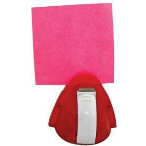 Мемо-холдер со скотчем; красный с белым; 6,5х6х7 см; пластик