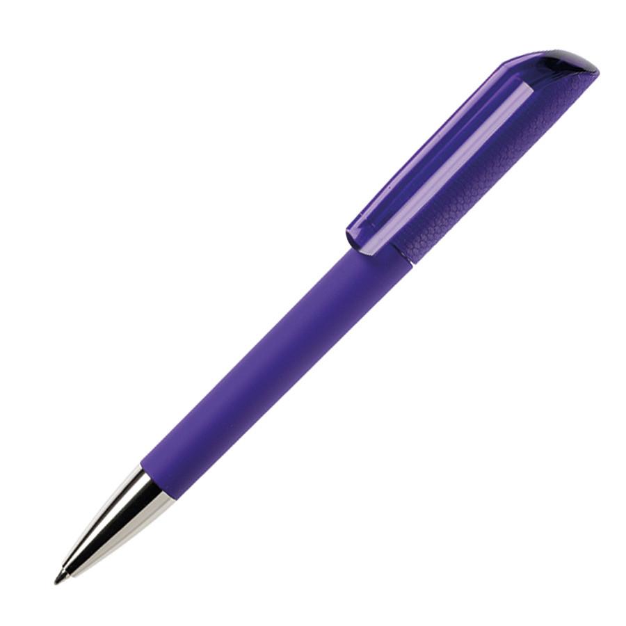 Ручка шариковая FLOW, покрытие soft touch, темно-фиолетовый, пластик