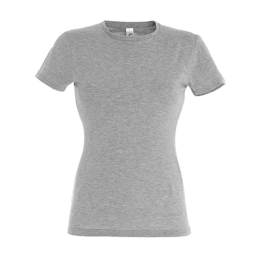 """Футболка """"Miss"""",  серый меланж_2XL, 100% хлопок, 150 г/м2"""