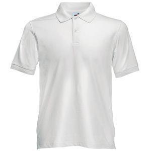 """Поло """"Slim Fit Polo"""", белый_L, 97% х/б, 3% эластан, 210 г/м2"""