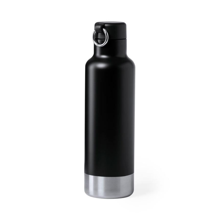 Бутылка для воды PERNAL, чёрный, 750 мл,  нержавеющая сталь