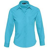 """Рубашка""""Executive"""", бирюзовый_M, 65% полиэстер, 35% хлопок, 105г/м2"""