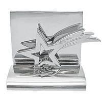 Подставка для визиток Звезда; 5х4.5х3.5 см; металл