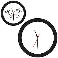 """Часы настенные """"ПРОМО"""" разборные ;  черный, D28,5 см; пластик/стекло"""