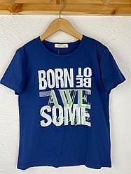 "Футболка для мальчиков-подростков от ТМ BREEZE ""Born to be"" 15699"