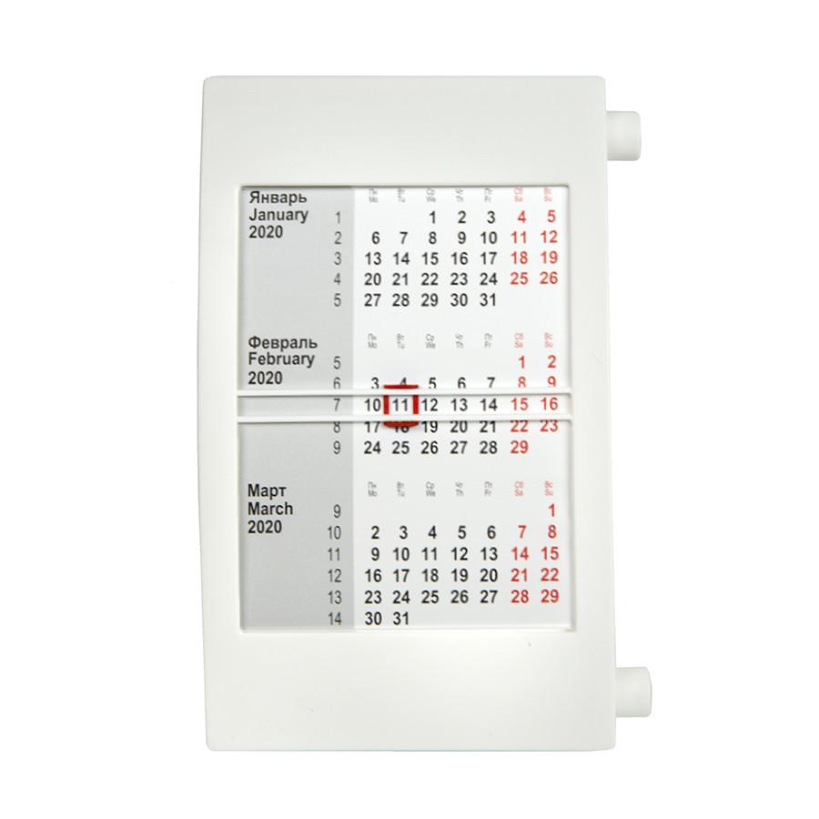 Календарь настольный на 2 года; белый; 18х11 см; пластик