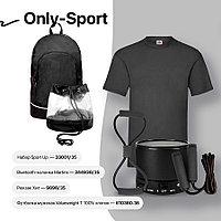 Набор подарочный ONLY-SPORT: футболка, набор SPORT UP, портативная bluetooth-колонка, рюкзак, черный