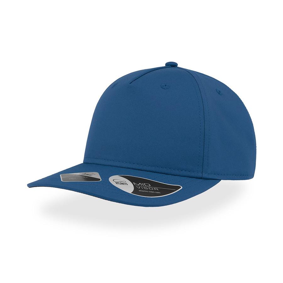 """Бейсболка """"RAY"""", 5 клиньев, застежка на липучке, ярко-синий, 100 % полиэстер, 193 г/м2"""