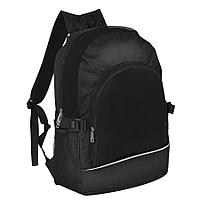 Рюкзак. чёрный, 30х42х13 см, Полиэстер 600D+1680D, шелкография