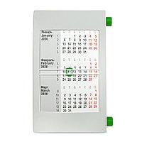 Календарь настольный на 2 года; серый с зеленым; 18х11 см; пластик, фото 1
