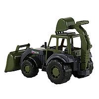 Игрушка трактор-экскаватор военный Мастер, Полесье
