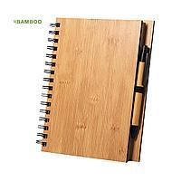 Набор из блокнота  и шариковой ручки POLNAR, бамбук, фото 1