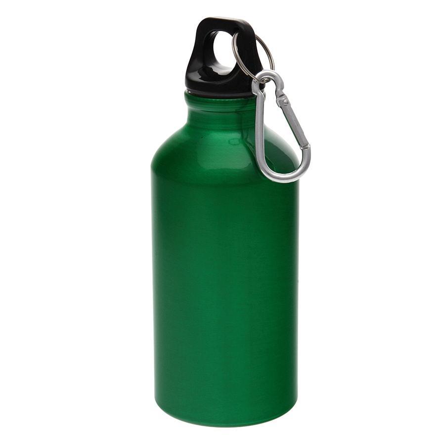 Бутылка для воды MENTO с карабином, зеленый, 400 мл., алюминиевая