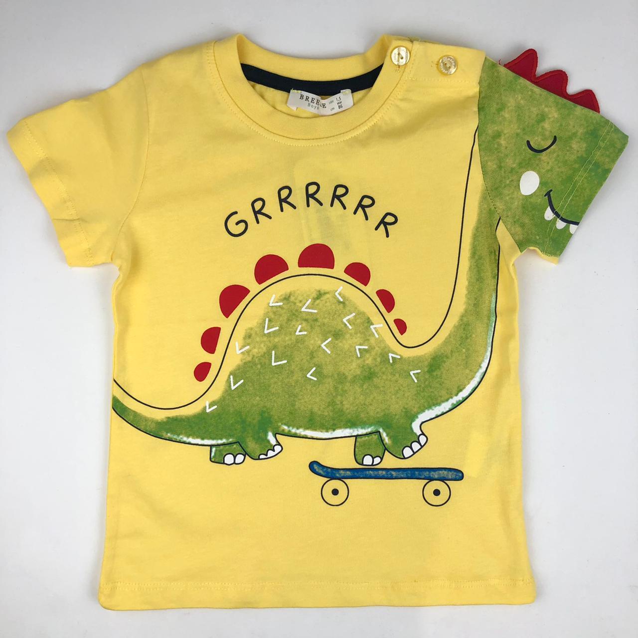 Желтая футболка с динозавриком от ТМ Breeze 13491
